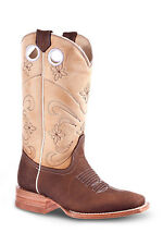 Womens Brown Cowgirl Western Leather Rodeo Boots REDHAWK 5145 Size 5-10 (B, M)