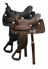 Dbl T  Nylon Cordura Saddle w/ Top Grain Leather Seat & Engraved Silver Conchos!