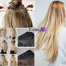 beauty 150g one piece clips hair extension 5 clips100% human hair extension