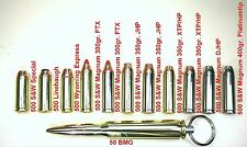 Bullet Keychain / Inert 500 Special & 500 S&W Magnum Hollow Point