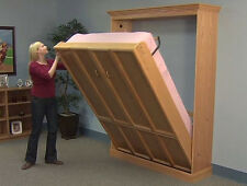 Do-It-Yourself QUEEN Vertical Create-A-BedⓇ Murphy Bed Hardware Kit, Plans & DVD