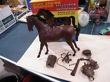 Vintage Marx Johnny West Comanche with tack  with box