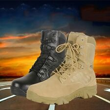 Men Womens Military Tactical Combat Ankle Boots Cordura Desert Army Hiking Shoes