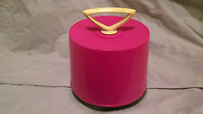 "Disk Go Case Vintage 45 Record Retro Carrying Case Caddy 7"" Storage Hot Pink"