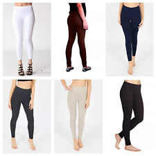 LADIES FULL LENGTH SKINNY FIT COTTON STRETCH LEGGINGS PLUS SIZE 8-22