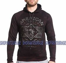 American Fighter Hartwick FM4639 New Men`s Black/Red Pullover hoodie Affliction