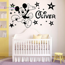 Mickey Mouse wall sticker Personalised any name boys wall art AFC3 DECAL DECOR