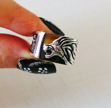 NEW HANDMADE TURKISH 925 STERLING SILVER AGATE  STONE FASHION LION Men's RING