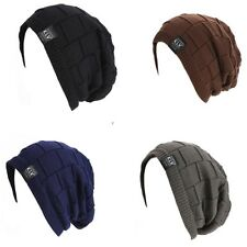 Unisex Women Men New Beanie Hat Ribbed Grid Outdoor Knit Hat occident Fashion