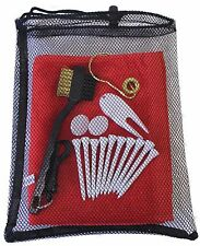 Golf Utility Kit (Towel, Tees, Ball Markers, Divot Tool & Scrub Brush) 89420