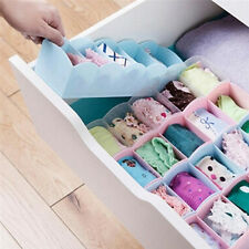 Plastic Organizer Tie Bra Socks Drawer Cosmetic Divider Storage Box Container SN