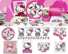 NEW Hello Kitty Pink Girls Birthday Party Tableware Plates Cups Napkins Loot