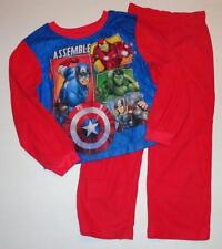 MARVEL AVENGERS Boys 6 7 8 10 12 14 16 Flannel Pjs Set PAJAMAS Shirt Pants HULK