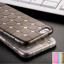 Luxury Shockproof Silicone / Gel / Rubber Cube Thin Case Cover for Apple iPhone