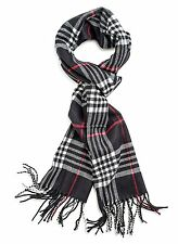 Men Women Winter Warm PLAID CHECK Pashmina Long Soft Cozy Scarf Stole Wrap Shawl