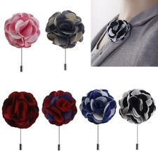 Mixed Lapel Flower Daisy Boutonniere Stick Brooch Pin Mens Women Accessories