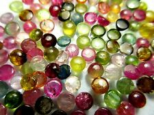 3mm to 6mm Natural Multi Tourmaline Cabochon Round Top Quality Loose Gemstone