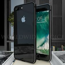 Luxury Metal Hard Silicone Bumper Hybrid Case Clear Cover For iPhone 6 6s 7 Plus