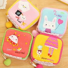 Cartoon Sanitary Napkin Towel Pads Key Small Zip Bag Purse Holder OrganizerKidsP