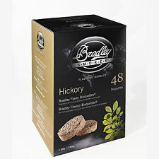Bradley Smoker Bisquettes 48 Pack Choose Hickory, Mesquite, Whickey Oak or Apple