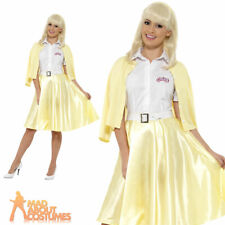 Adult Grease Good Sandy Costume Pink Ladies 50s 70s Fancy Dress Movie Outfit