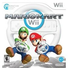 Mario Kart With Wheel Bundle (Nintendo Wii, 2008) *New,Sealed*