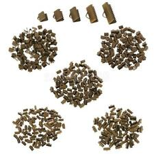 100pcs Vintage End Caps Crimp Beads Findings DIY Jewelry Making Accessories Gift