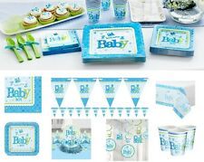 Baby Shower Welcome Boy Party Supplies Decoration Tableware Plates Napkins Cups