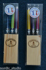 LAGUIOLE JEAN DUBOST SET OF 6 STEAK KNIVES in Block, MULTI COLOR, MADE IN FRANCE