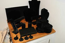 10+ Black Mannequin Velvet Bust Necklace Pendant Jewelry Display Stand Holders.
