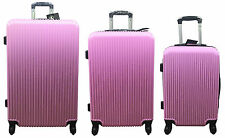 Hard Shell Lightweight Cabin Suitcase/Cases 4 Spinner Wheel Luggage - PINK