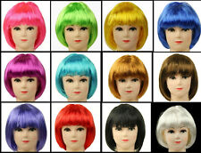 Lady Women's Sexy Full Bangs Wigs Short Wig Straight BOB Hair Cosplay Party