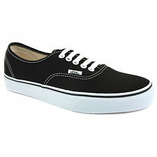 Vans Authentic Unisex Trainers VEE3BLK Black New Shoes All Sizes