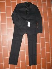MOSCHINO elegant Suit Jacket & Trousers 98% Cotton black costume NEW