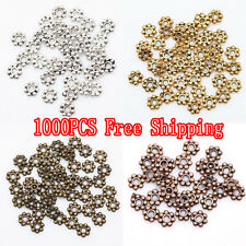 Wholesale 1000Pcs Tibetan Silver/Golden/Bronze Daisy Spacer Beads Findings 4mm