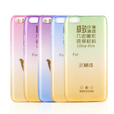 Rainbow Slim Ombre Gradually Clear Soft TPU Silicone Gel Case Cover For Xiao Mi