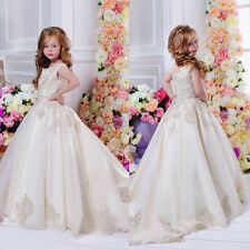 Flower Girl Dresses for Wedding Bridesmaid Prom Ball Gown Pageant Party Princess