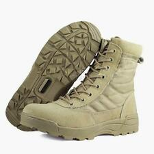 Side Zip Suede Leather Combat Work Outdoor Shoes Men Tactical Desert Khaki Boots