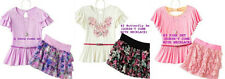 * NWT NEW GIRLS 2PC Knitworks Butterfly SUMMER OUTFIT SET 10 14