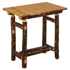 Hickory Log Promo End Table Rustic River Living Room Log Cabin End Table Hickory