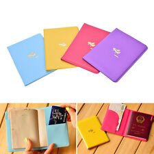 Airplane Pattern Passport ID Card Cover Case Holder Travel Protector ExquisiteSP