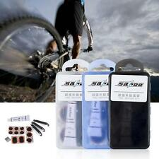 BIKE TYRE TUBE BICYCLE PUNCTURE REPAIR TOOL KIT CYCLE GLUELESS PATCHES E9Y5