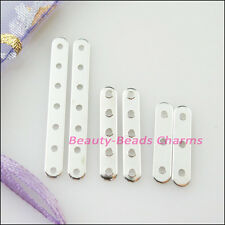 Silver Plated 3-Strand 5-Strand 7-Strand Flat Spacer Bars Connectors Findings