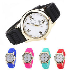 Women Candy Color Silicone Strap Round Dial Quartz Casual Wrist Watch Ardent