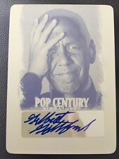 Gilbert Gottfried 2012 Leaf Pop Century Signature Printing Plate 1/1 Auto Mint