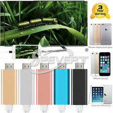 For iPhone 5 5S 5C SE 6 6S 7 Plus MHL to HDMI 1080P HDTV Video Cable Adapter