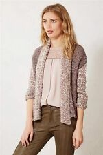 Anthropologie Woodhouse Cardigan Size M, Marled Purple Sweater Cardi By Moth