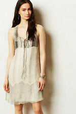 Anthropologie Embroidered Tindari Tunic Sz MP & L, Beaded Tank Dress By Aryn K