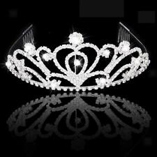 Chic Crystal Wedding Bridal Hair Tiara Hairband with Comb Charms Hair Jewelry