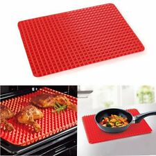 Non Stick Fat Reducing Silicone Cooking Mat Oven Baking Tray Sheets Mat New XP